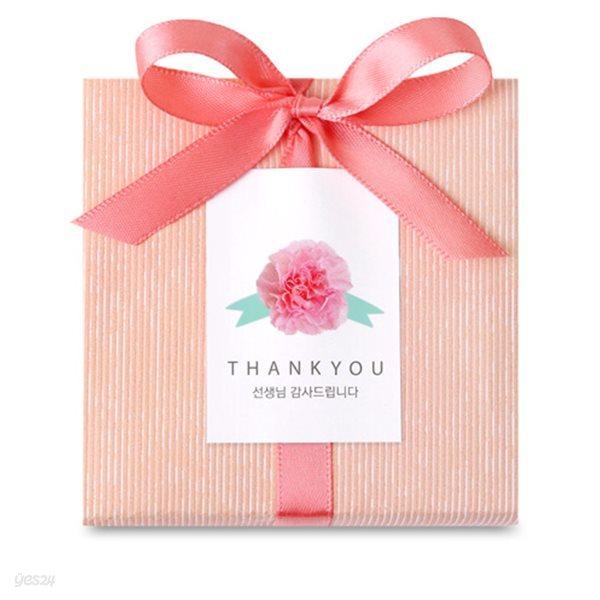 핑크 카네이션 선생님 직사각 라벨 (10개)