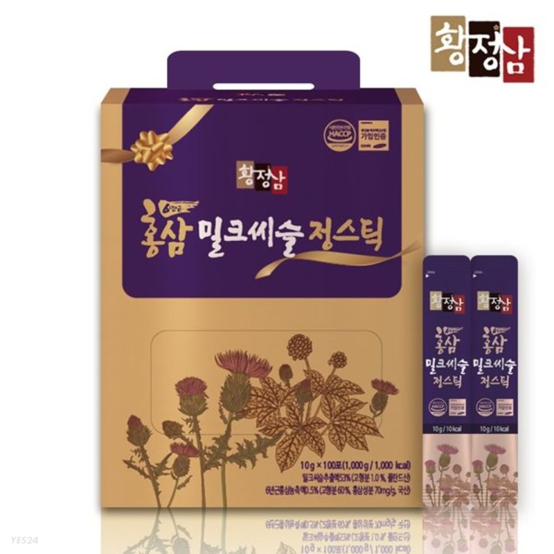 황정삼 홍삼 밀크씨슬 스틱 100포 실속구성