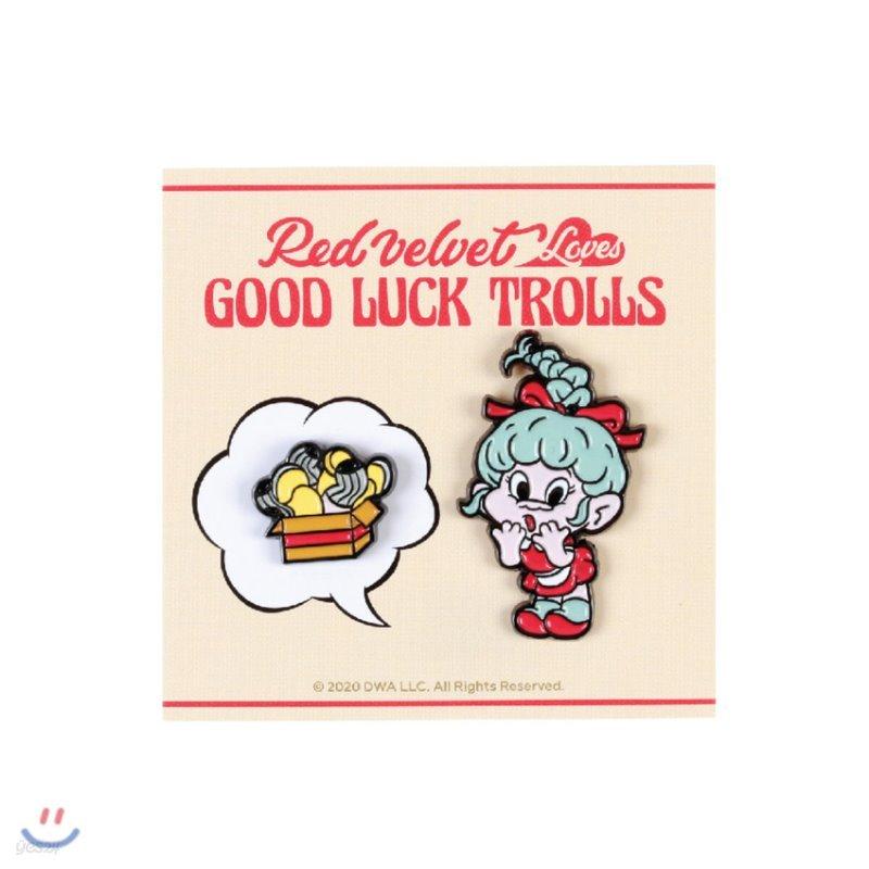레드벨벳(Red Velvet Loves GOOD LUCK TROLLS) - BADGE SET [Wendy Troll]