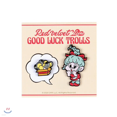 레드벨벳(Red Velvet Loves GOOD LUCK TROLLS) - BADGE SET [Wendy Troll]