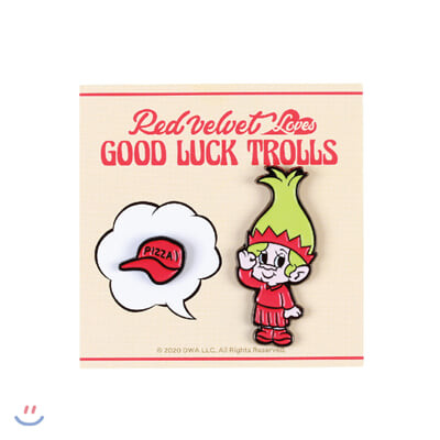 레드벨벳(Red Velvet Loves GOOD LUCK TROLLS) - BADGE SET [Joy Troll]