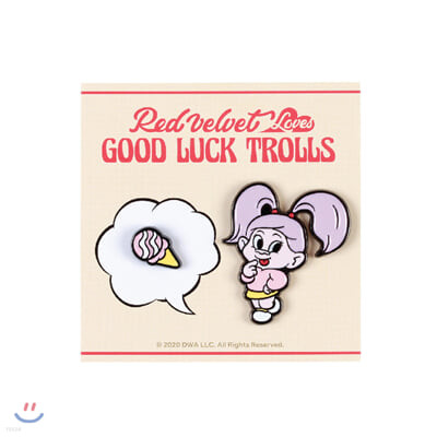 레드벨벳(Red Velvet Loves GOOD LUCK TROLLS) - BADGE SET [Yeri Troll]