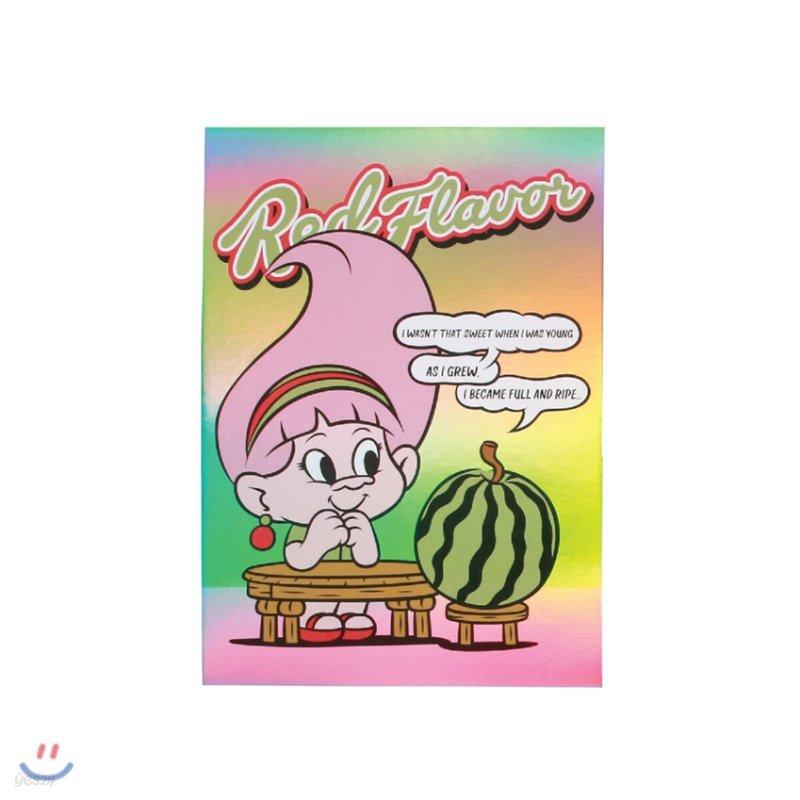 레드벨벳(Red Velvet Loves GOOD LUCK TROLLS) - HOLOGRAM POSTCARD [Irene Troll]