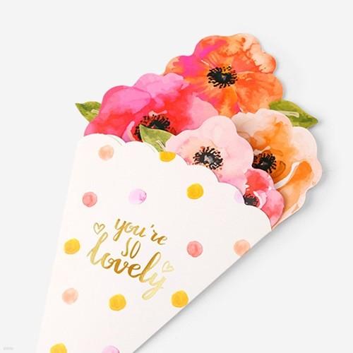 러블리 꽃다발 카드