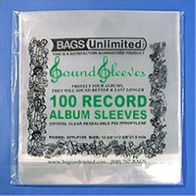 Bags Unlimited - SPPLP15R-100 CT Snug Reasealable Poly Sleeve (LP커버)