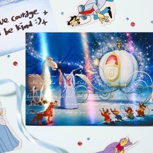 [디즈니] 프린세스 홀로그램 엽서