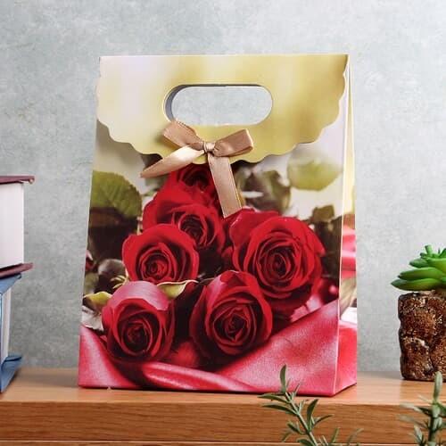 로즈 리본 PP 선물백/선물포장백 방수 쇼핑백