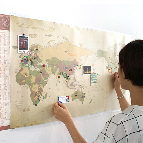 [20%할인+무료배송]데코 트래블 월드맵 Ver.2 [꾸미는 세계 지도]