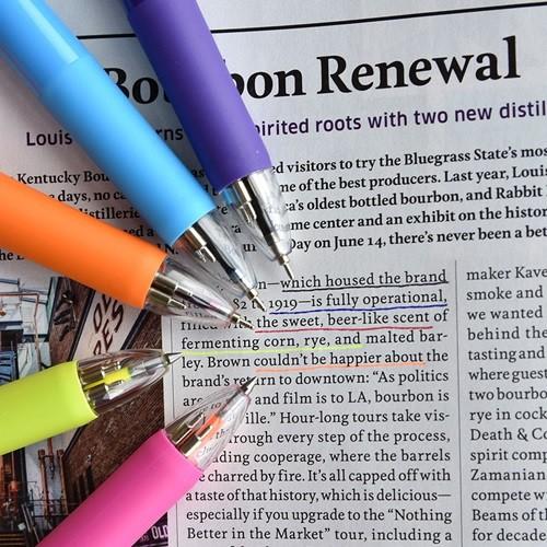5way Color Pen (형광피치,형광옐로우,블랙,블루...