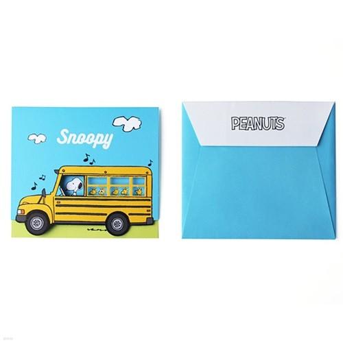 스누피 피너츠 버스 카드