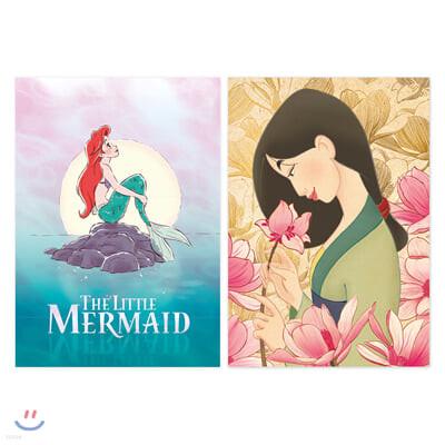 디즈니 프린세스 프레임 포스터 세트 1