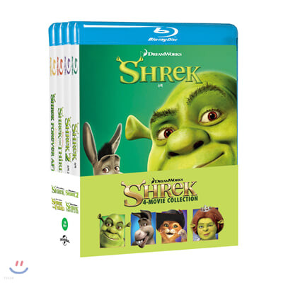 슈렉 4-Movie 콜렉션 (4Disc 한정수량) : 블루레이