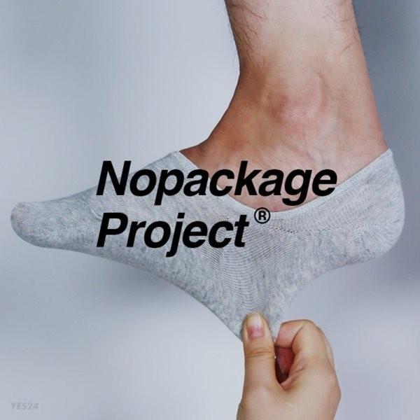 [정품 Nopackage Project] 안벗겨지는 두꺼운 남성 여성 페이크삭스 덧신 남자 여자 양말