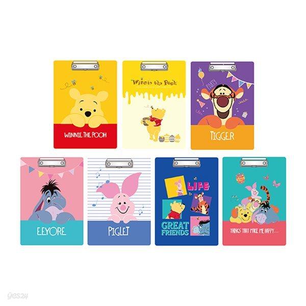 디즈니 푸와 친구들 A4 클립보드 7종 세트