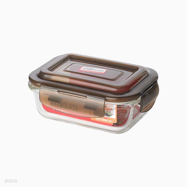 [홈앤하우스] 프리모 오븐글라스 밀폐용기 직사각 640ml