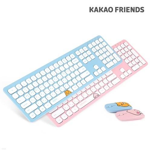 카카오프렌즈 무선 키보드 + 마우스 + 실리콘 키스킨 + 피규어 세트 KFKM-001