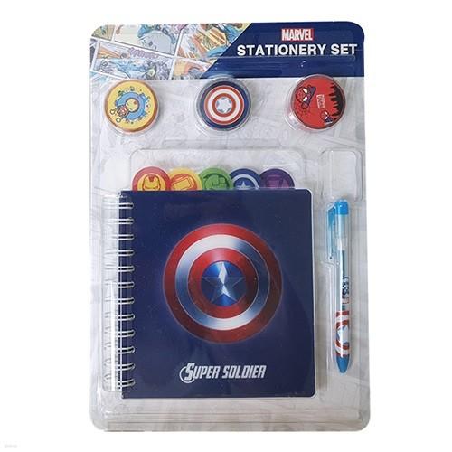 마블(Marvel) 스페셜 기프트 문구세트 (캡틴아메리카)