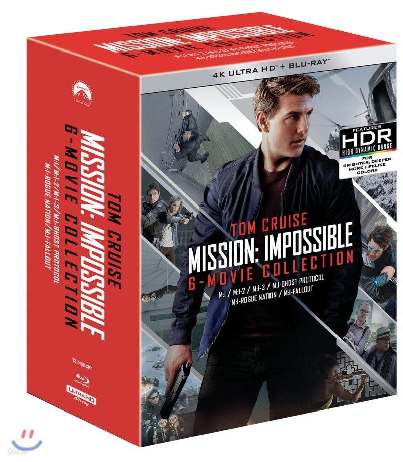 미션 임파서블 6-Movie 4K UHD 콜렉션 (12Disc 아웃박스) : 블루레이