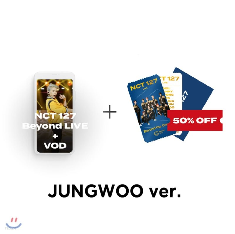[JUNGWOO] NCT 127 Beyond LIVE +VOD관람권 + SPECIAL AR TICKET SET