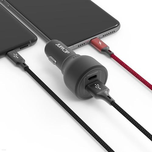 주파집 63W USB / PD 타입 PPS 차량용 초고속충...