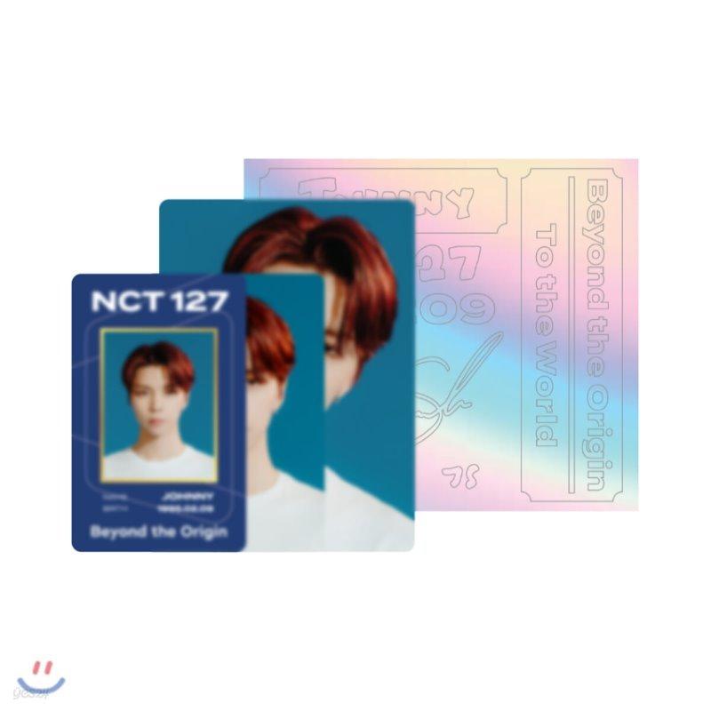 [JOHNNY] NCT 127 Beyond LIVE Beyond the Origin ID카드+응원봉데코스티커SET