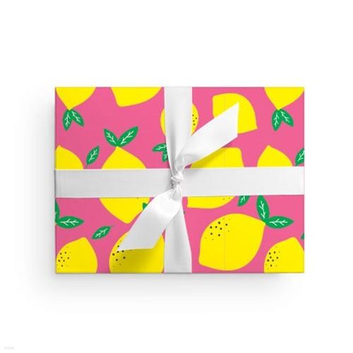 핑크 레몬 포장지 (2장)