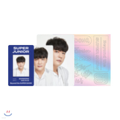 [SHINDONG] ID카드+응원봉데코스티커SET_SUPER JUNIOR Beyond LIVE Beyond the SUPER SHOW