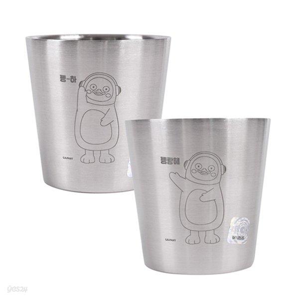 펭수 컵 [이중스텐-160ML]