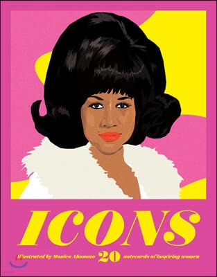Icons Notecards : 20 Notecards of Inspiring Women : 영감을 주는 여성 20인 엽서 세트