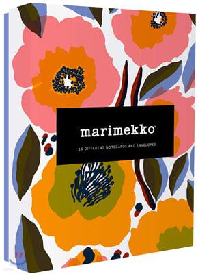 Marimekko Kukka Notecards : 마리메꼬 꽃 엽서 세트