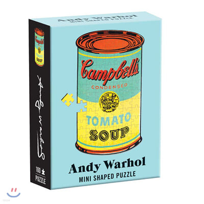 Andy Warhol Mini Shaped Puzzle : Campbell's Soup