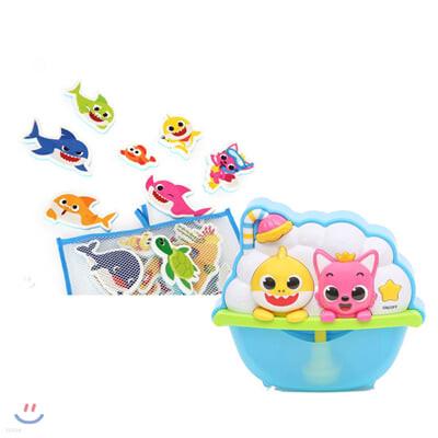 핑크퐁 아기상어 멜로디 버블 토이 + 상어가족 목욕놀이 스티커