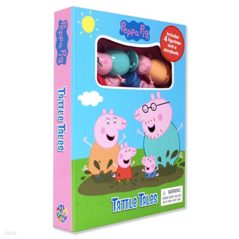 Peppa Pig Tattle Tales 페파 피그 피규어 책 (미니 보드북 1개 + 피규어 4개 구성)