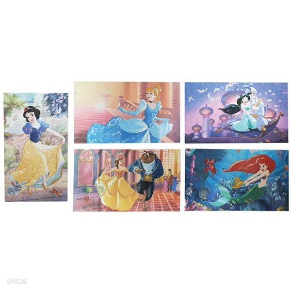 디즈니 프린세스 홀로그램 엽서 (5 option)