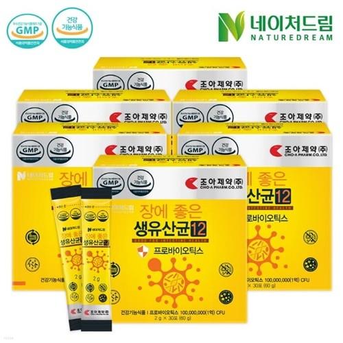 [네이처드림] 조아제약 생유산균 30포*6박스