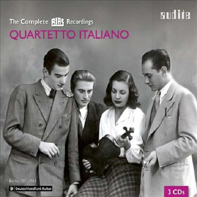 이탈리아 사중주단 RIAS 레코딩 전집 (Quartetto Italiano The Complete Rias Recording) (3CD) - Quartetto Italiano