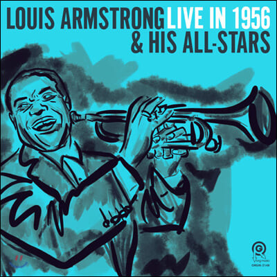 Louis Armstrong & His All-Stars (루이 암스트롱 앤 히즈 올스타즈) - Live in 1956 [아쿠아 컬러 LP]