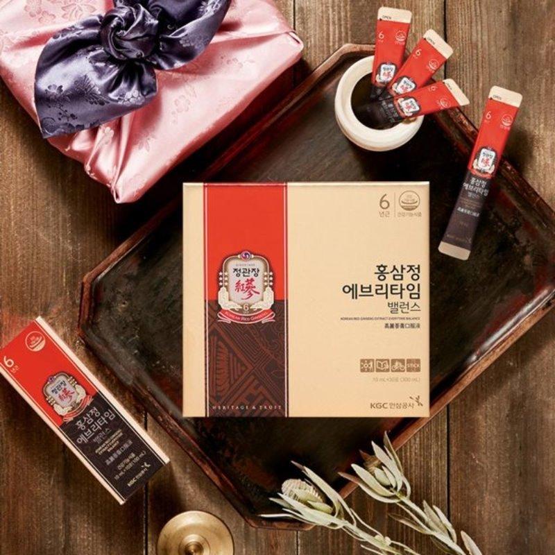 ★쇼핑백증정★[정관장] 홍삼정 에브리타임 밸런스 10mlx30포 (보자기 포장)