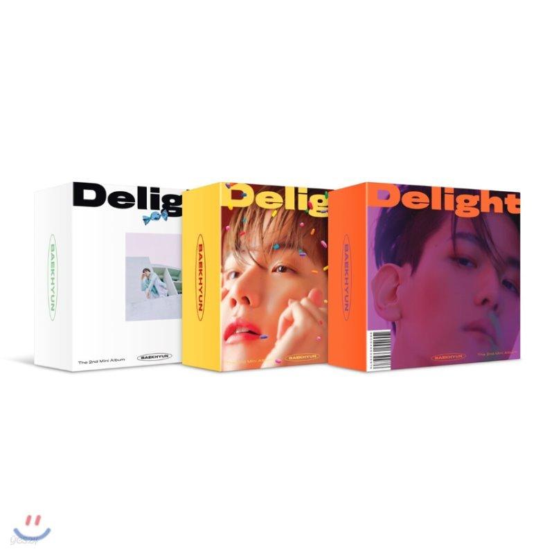 백현 (BAEK HYUN) - 미니앨범 2집 : Delight [커버 3종 중 랜덤 1종 발송] [스마트 뮤직 앨범(키트 앨범)]