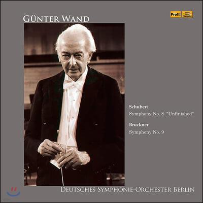 Gunter Wand 슈베르트: 교향곡 8번 / 브루크너: 교향곡 9번 (Schubert: Symphony D759 / Bruckner: Symphony WAB109) [2LP]