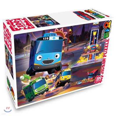 꼬마버스 타요 직소퍼즐 100pcs 야간개장