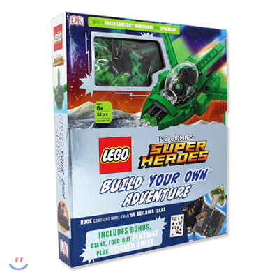 LEGO DC Comics Super Heroes Build Your Own Adventure (그린랜턴 피규어,레고 블록 84개 포함)