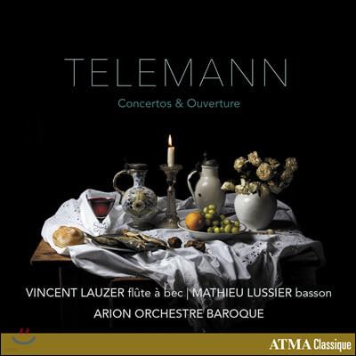 Vincent Lauzer / Mathieu Lussier 텔레만: 협주곡과 서곡집 (Telemann: Concertos and Overture)