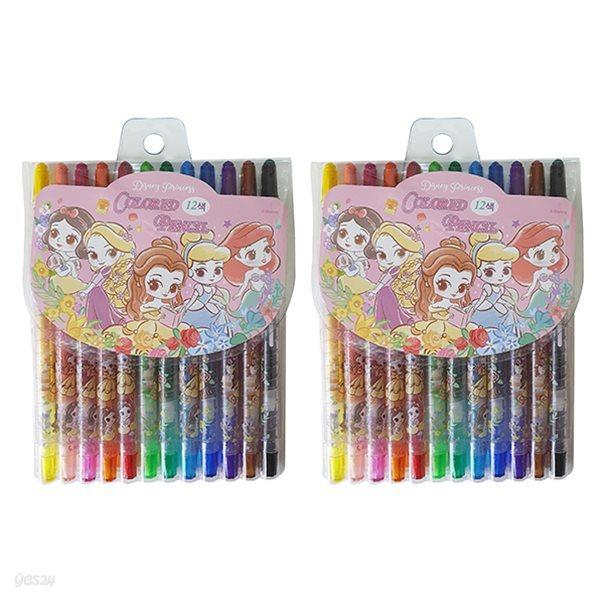 디즈니 프린세스 12색 색연필