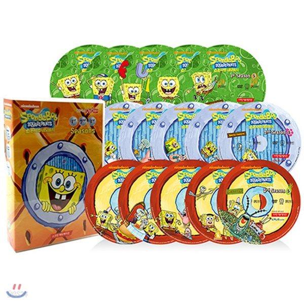 [DVD] SpongeBob SquarePants Season 1~3 보글보글 스폰지밥 시즌1~3집 15종 A세트