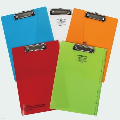 비팬시 클립보드 디자인 퓨어칼라 A4 투명 서류...