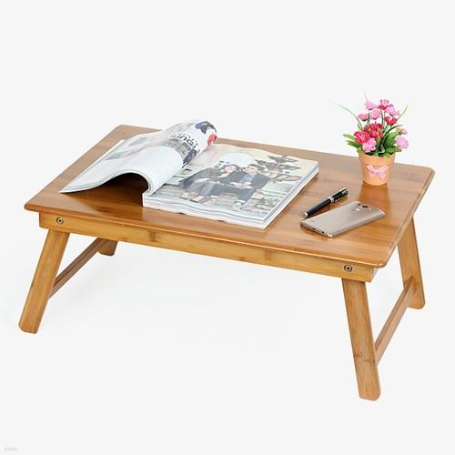 대나무 접이식좌식책상/밥상 공부상 노트북책상