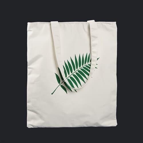 나뭇잎 에코백 /지퍼형 수납 포켓에코백