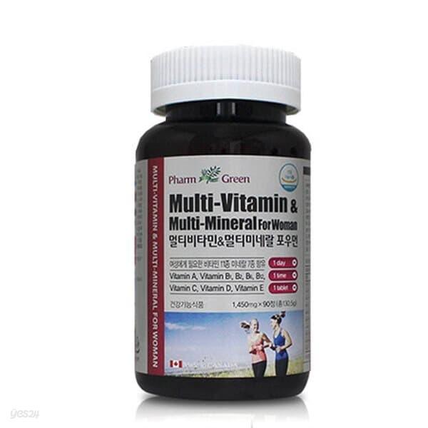 팜그린 멀티비타민 포우먼 1,450mg x 90정