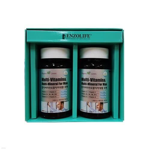 팜그린 멀티비타민&미네랄 포맨 2종 선물세트(백화점 선물포장+쇼핑백포함)